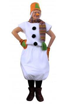 Костюм Снеговика в оранжевом ведре