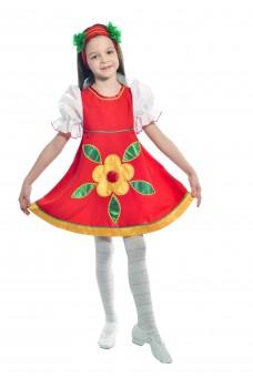 Костюм танцевальный в народном стиле для девочки