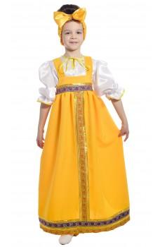Костюм Барыни в желтом сарафане детский