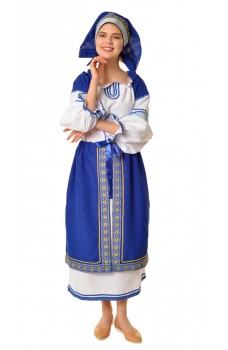 Костюм народный с синей поневой