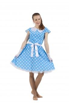 Платье в стиле 50-х голубое