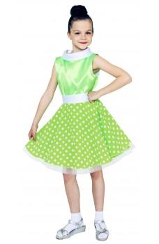 Платье стиляги для девочки салатовое