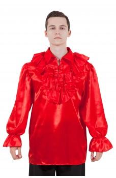 Пиратская рубашка красная